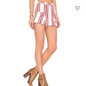 Lovers + Friends Oasis Skort in Red Stripe.